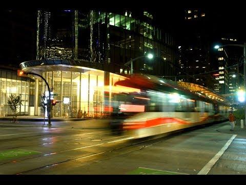 Calgary LRT Station at Night