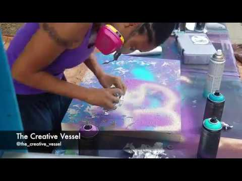 Foil Spray Painting Process by The Creative Vessel