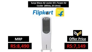 Surya Wave Air cooler 25 L Tower Air Cooler (White, 25 Litres)