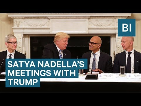 Microsoft CEO Satya Nadella on his meetings with President Trump