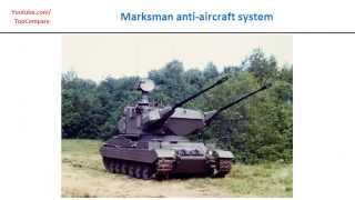 type 87 or marksman anti aircraft system air defence weapon key features comparison
