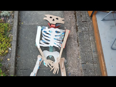 how to make a skeleton using paper mache part 1 of 3