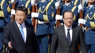 Fransa Cumhurbaşkanı Hollande Çin'de