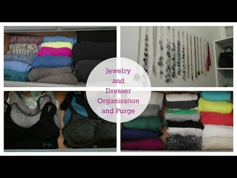 Jewelry and Dresser Organization and Purge | Clean and Organized Home Challenge Week 8