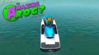 УДИВИТЕЛЬНАЯ ЛЯГУШКА против МЕГАЛОДОНА все лягушки стали акулами AMAZING FROG #5 Game For kids