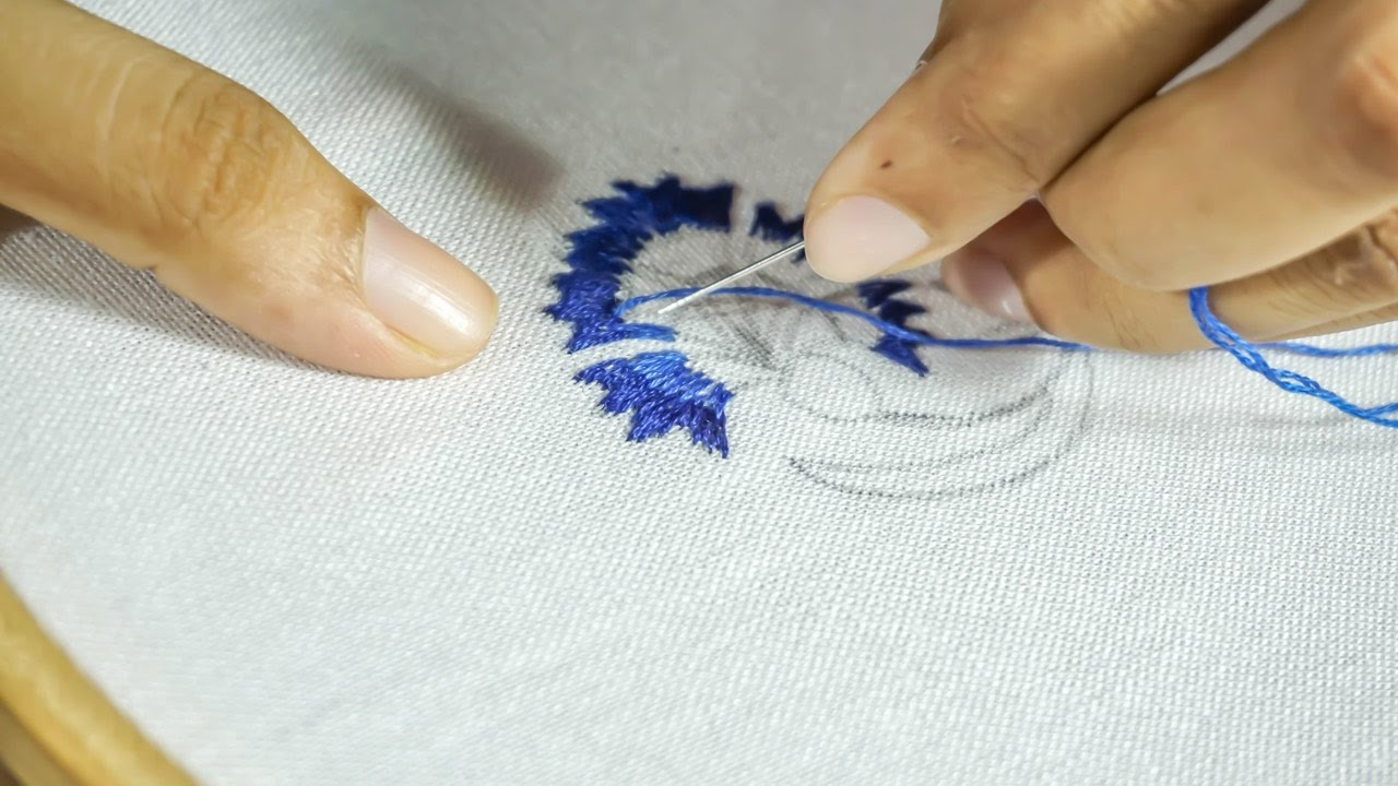 Thread embroidery designs diy hand stitching for Hand thread painting tutorial