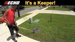 Cutting Grass - Customer Called Me Back - Echo SRM225 is a Keeper #SideHustle