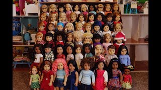 ALL MY 56 AMERICAN GIRL DOLLS AS OF DECEMBER 2017!