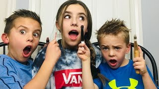MY LITTLE BROTHERS DO MY MAKEUP💄😱