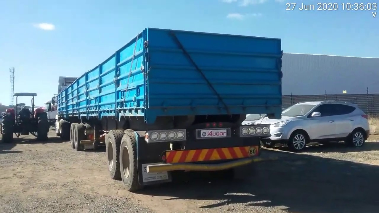 2015 Sa Truck Bodies D Axle Super Link Mass Sides Trailer Leader Follower Youtube