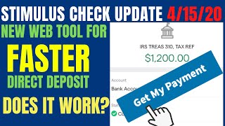 Stimulus Check Update: IRS Get My Payment (WORKS?)