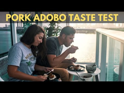 TRYING PORK ADOBO FOR FIRST TIME – NATIONAL DISH OF THE PHILIPPINES – MIAMI BEACH VLOG