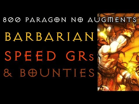 Barbarian - Speed GRs and Bounties Builds  - Diablo 3 RoS 2.6.1 LIVE - Gaming with Baromir