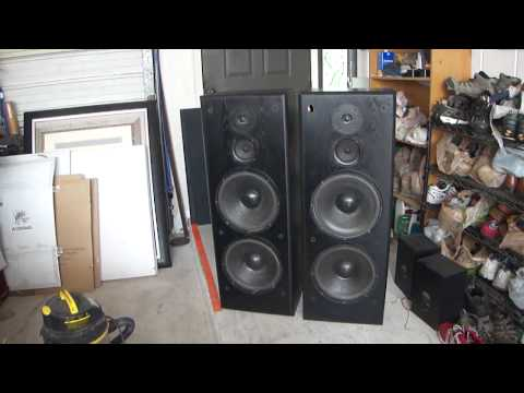 Vintage  KLH Speakers USA How SOUND Working Music