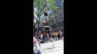 Guy hanging himself