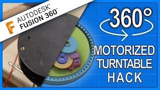 DIY Motorized Turntable from an old TV stand - Practical 3D Printing with Fusion 360