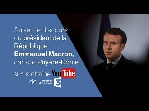 Suivez le discours du président de la République Emmanuel Macron, dans le Puy-de-Dôme