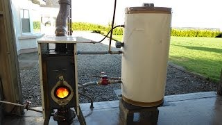 Free hot water and heating from waste oil. Easy build.