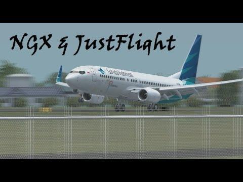 [FSX HD] 737 Indonesian Airline Traffic (Lion Air, Garuda Indonesia, Sriwijaya Air, Batavia Air)