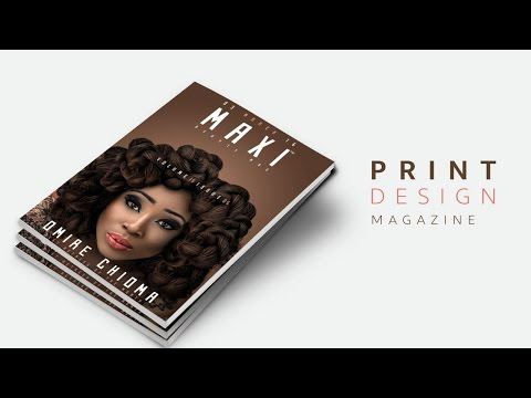 Learn how to design a magazine cover - Adobe Photoshop