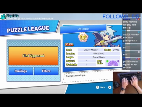 Puzzle League w/ Wumbo! Rank #3 Worldwide 24718➜24902 [Switch]
