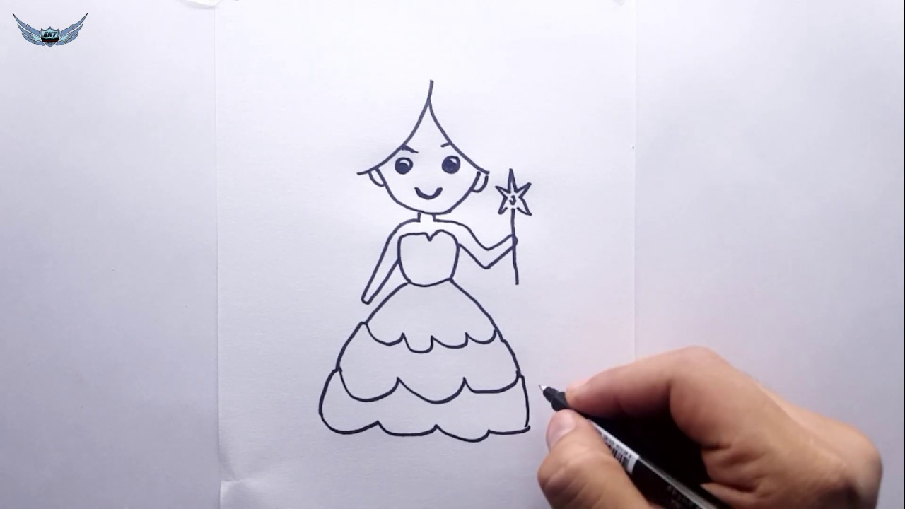 Kolay Prenses Nasil Cizilir Prenses Cizimi Adim Adim Youtube