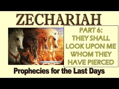 Zechariah Prophecies for the last Days Study 6 They shall look upon me whom they have pierced
