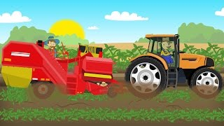 ☻ Farm Work - Growing potatoes | Fairy Tractor For Kids | Rolnik i Zbiór Ziemniaków Bajka 🙄☻