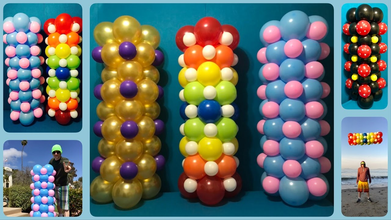 You can make balloon columns for only 5 youtube for What can you make with balloons