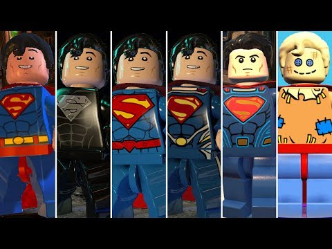 Superman Evolution In LEGO Videogames (DLC Included)