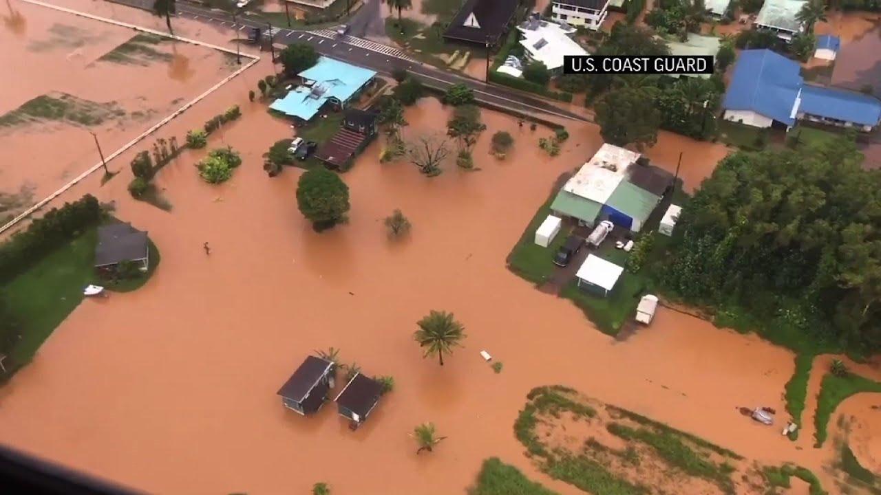 Video Captures Flooding After Hawaii Storms