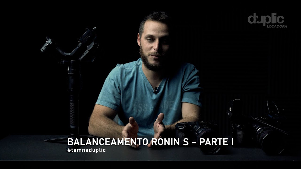 Balanceamento do Guimbal Dji Ronin S - Parte 01 - Sem Cage