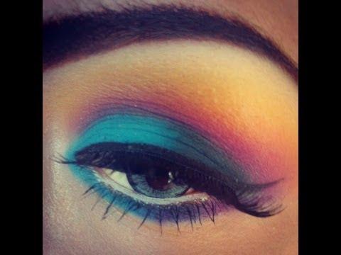 Tutorial de maquillaje dramtico y colorido