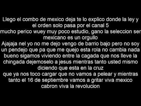 Toser One Mexico Lindo Letra