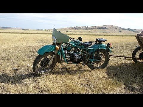 Супер. Мощный мотоцикл УРАЛ с двигателя от мотоблока.