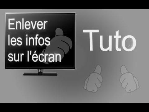 tuto tv samsung s rie 5 enlever les infos sur la l 39 cran de t l vision youtube. Black Bedroom Furniture Sets. Home Design Ideas