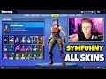 Symfuhny Shows ALL HIS RARE SKINS (Full Locker) - Fortnite Pickaxes, Gliders, Back Blings & More!