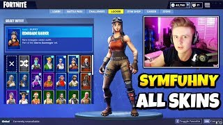Symfuhny Montre TOUS SES SKINS RARE (Full Locker) - Fortnite Pickaxes, Gliders, Back Blings - Plus!