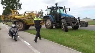 Ongeval Asserstraat 92 Zuidvelde (scooter - trekker)