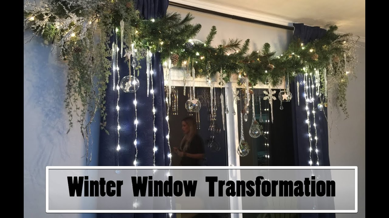 interior design winter window transformation youtube - Robeson Design Christmas