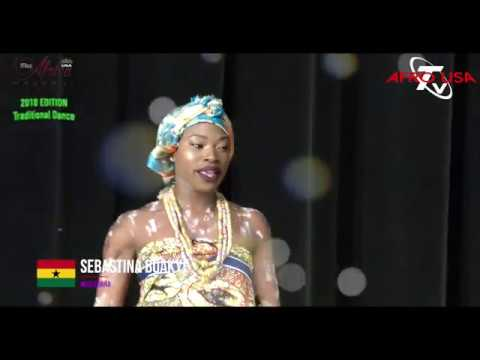 Miss Africa USA Traditional Segment.  A Mix of Cultures from Africa