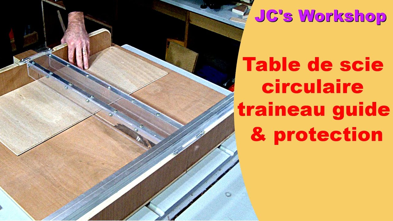 Table de scie circulaire tra neau et rails guide - Table de sciage maison ...