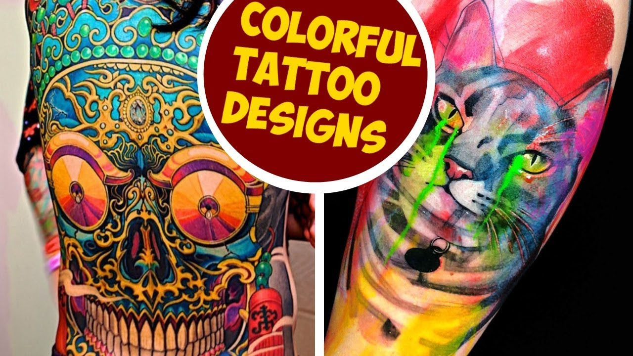 colorful tattoo designs to brighten your day youtube