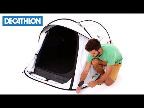 acc3ae332c0026 Come montare la tenda da campeggio 2 Seconds Easy Fresh & Black di Quechua  | Decathlon Italia - YouTube
