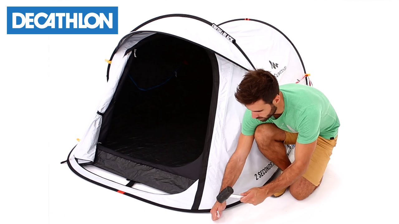 2ac8559a6 Come montare la tenda da campeggio 2 Seconds Easy Fresh   Black di Quechua