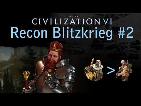 Civilization 6 - Ze German Blitzkrieg - Recon unit only domination - Part 2