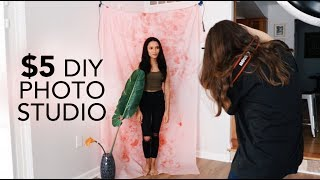 DIY PHOTOGRAPHY STUDIO FOR ONLY $5
