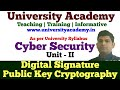 L14: Digital Signature in Cyber Security | Symmetric Key | Asymmetric Key| Public Key Cryptography