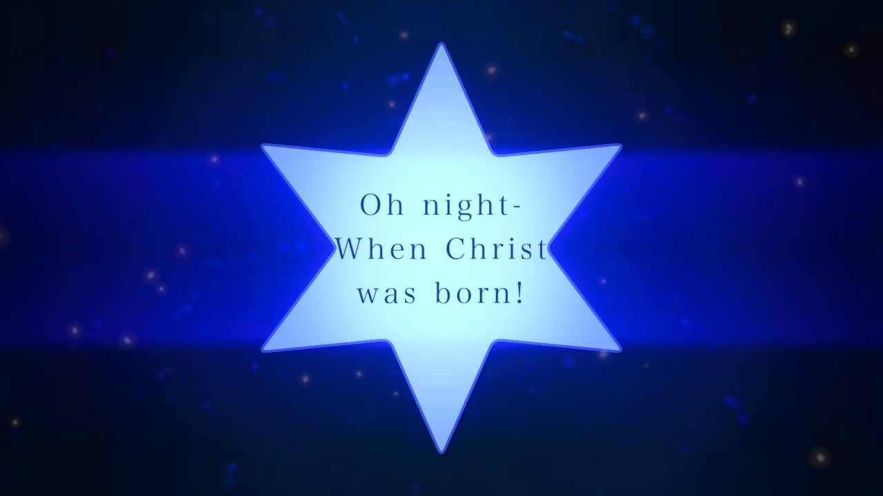 O Holy Night with Lyrics - Contemporary: (Praise Hymn's Version) - YouTube