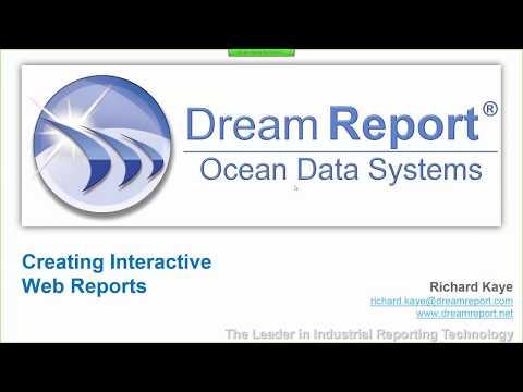 Dream Report Interactive Web Portal